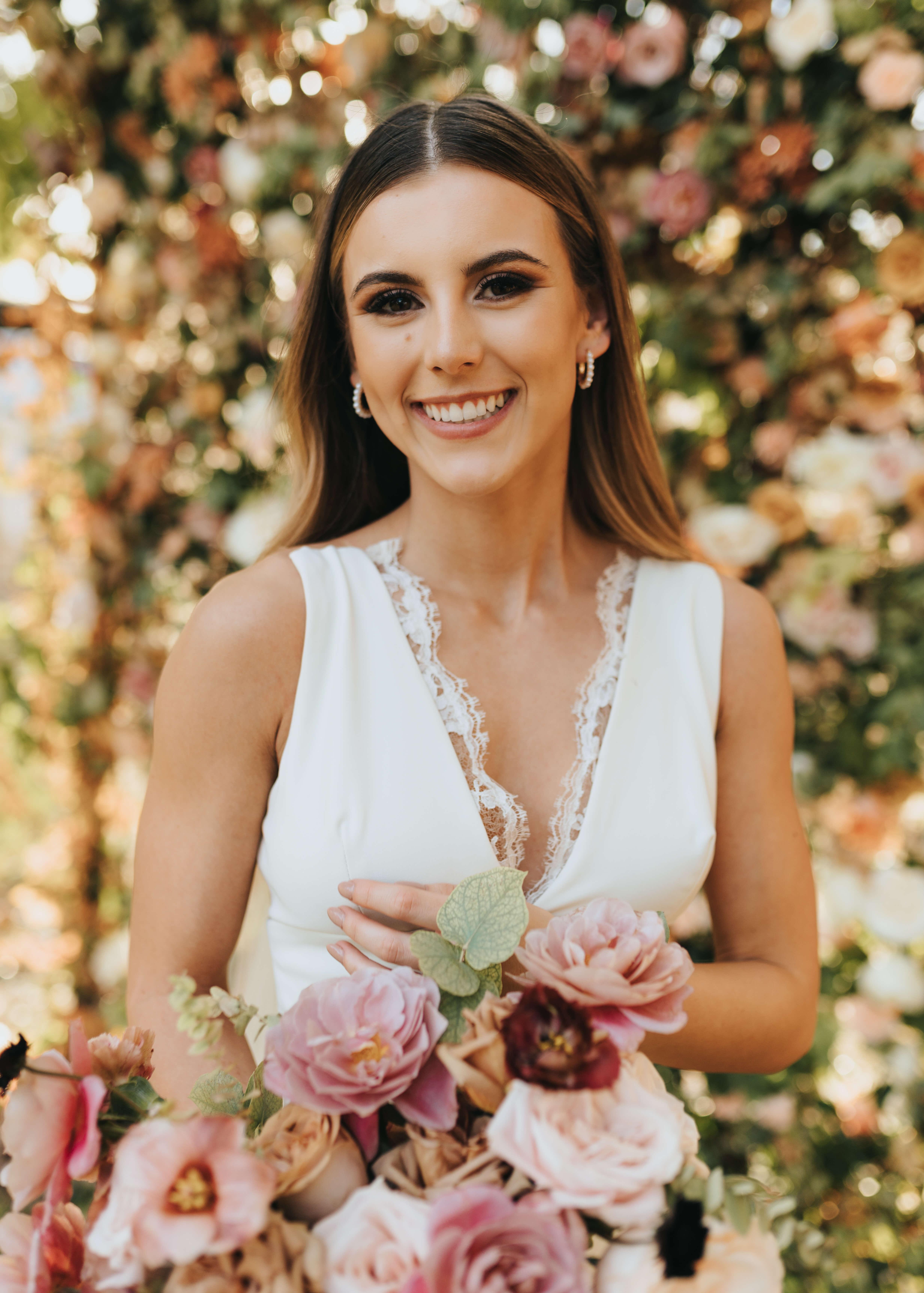 pink florals wedding ideas