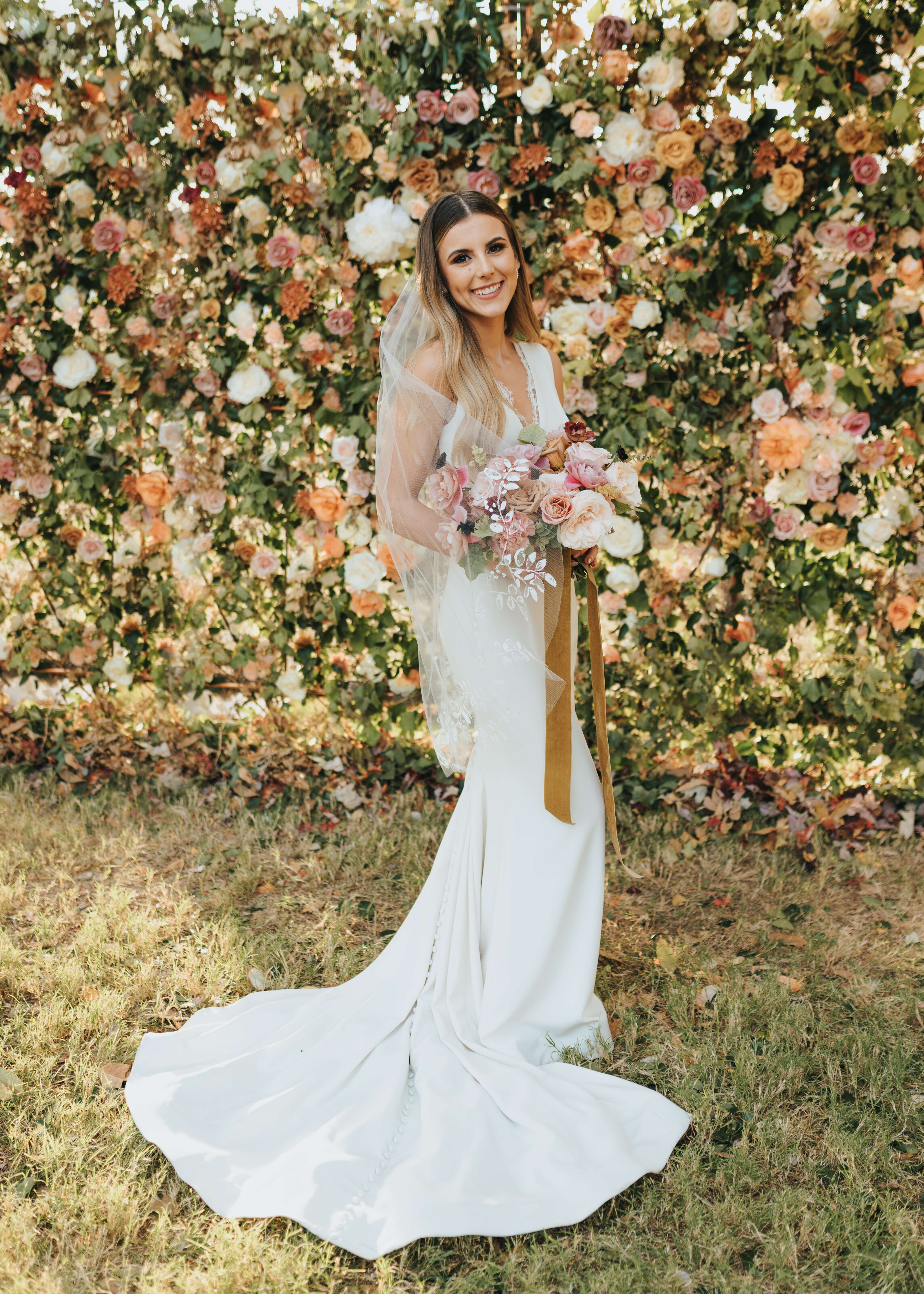 wedding day portrait of bride