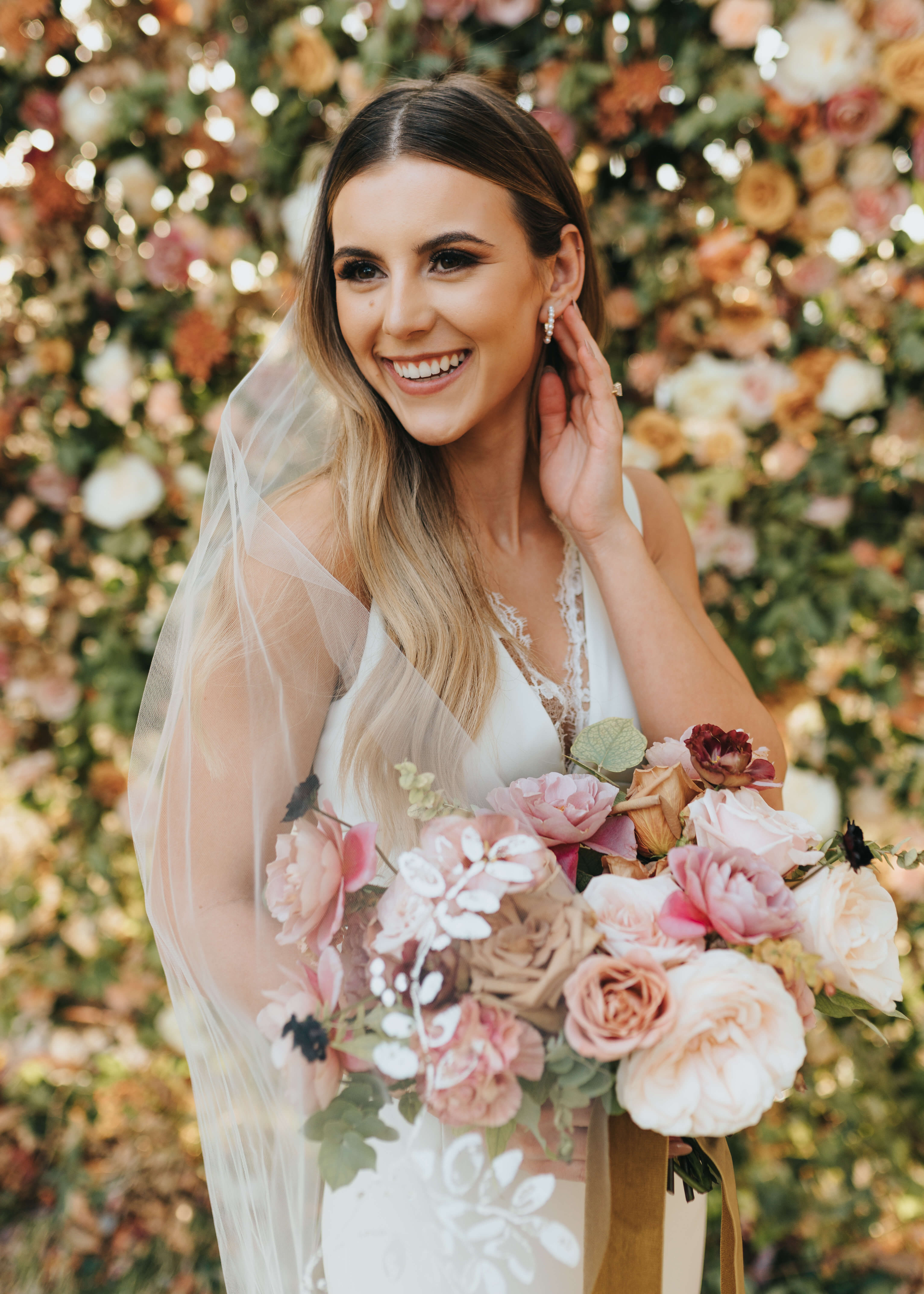 bride candidly laughing photo