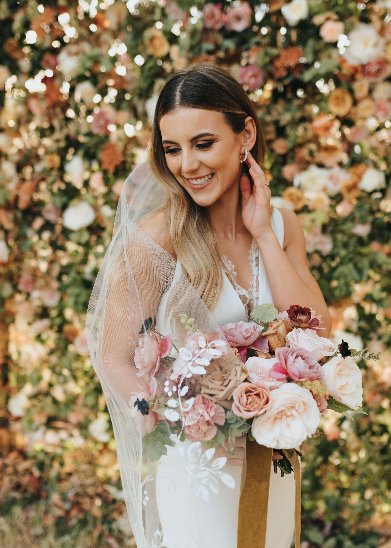 simple bridal photo on wedding day
