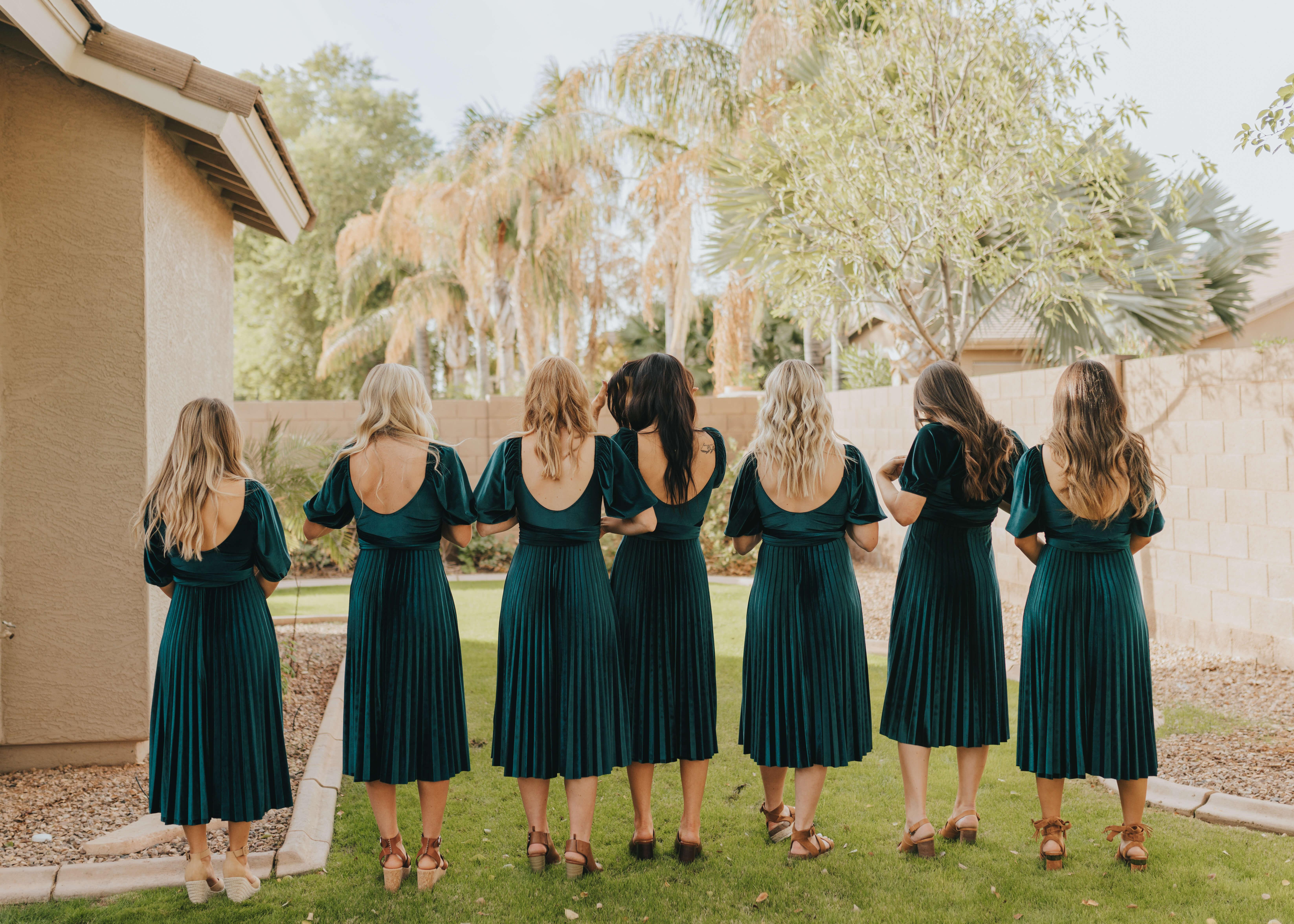 bridesmaid dress reveal turn around