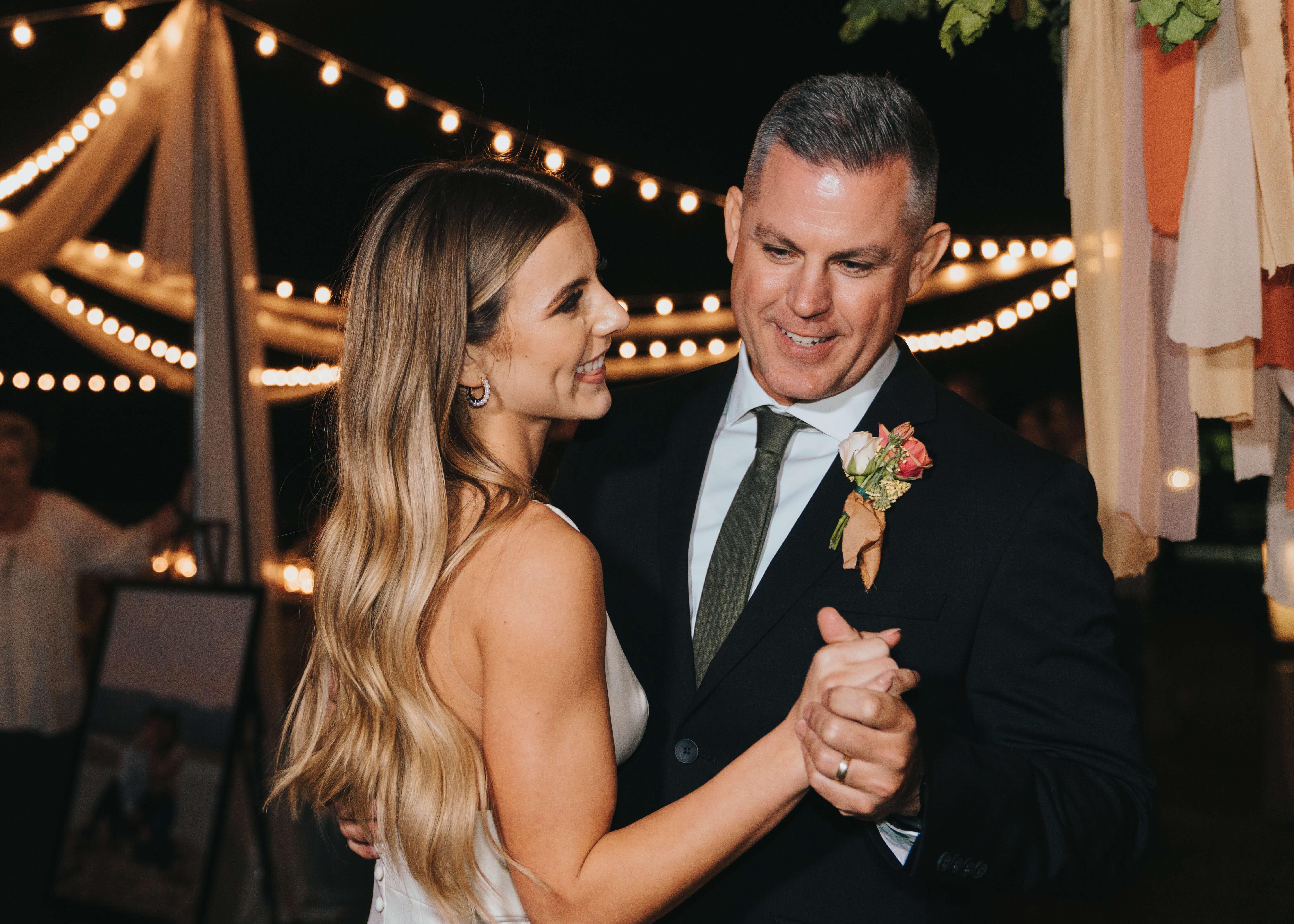 cute first dance daddy daughter wedding photo
