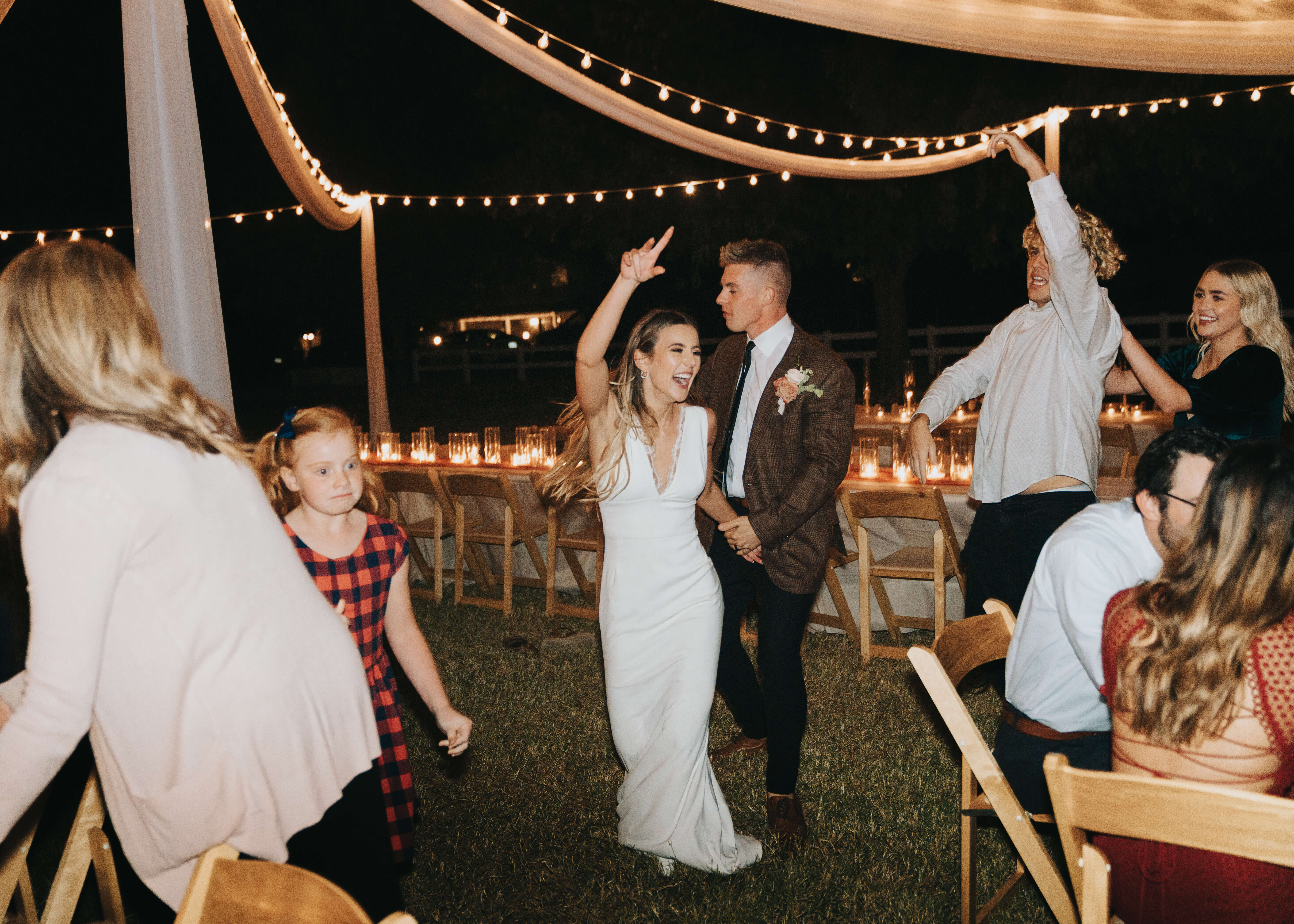 wedding party crazy dancing photo