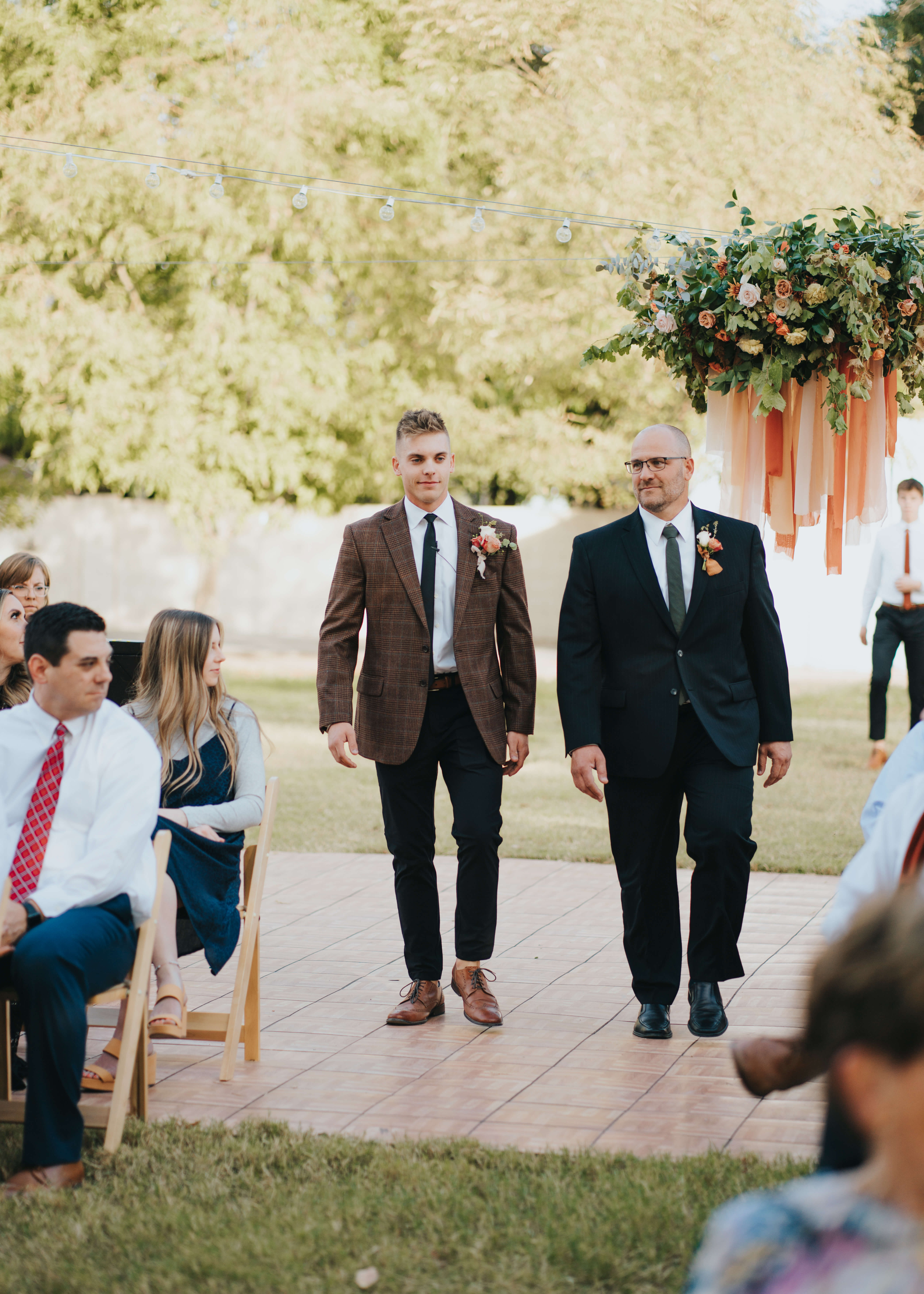 groom coming down the aisle