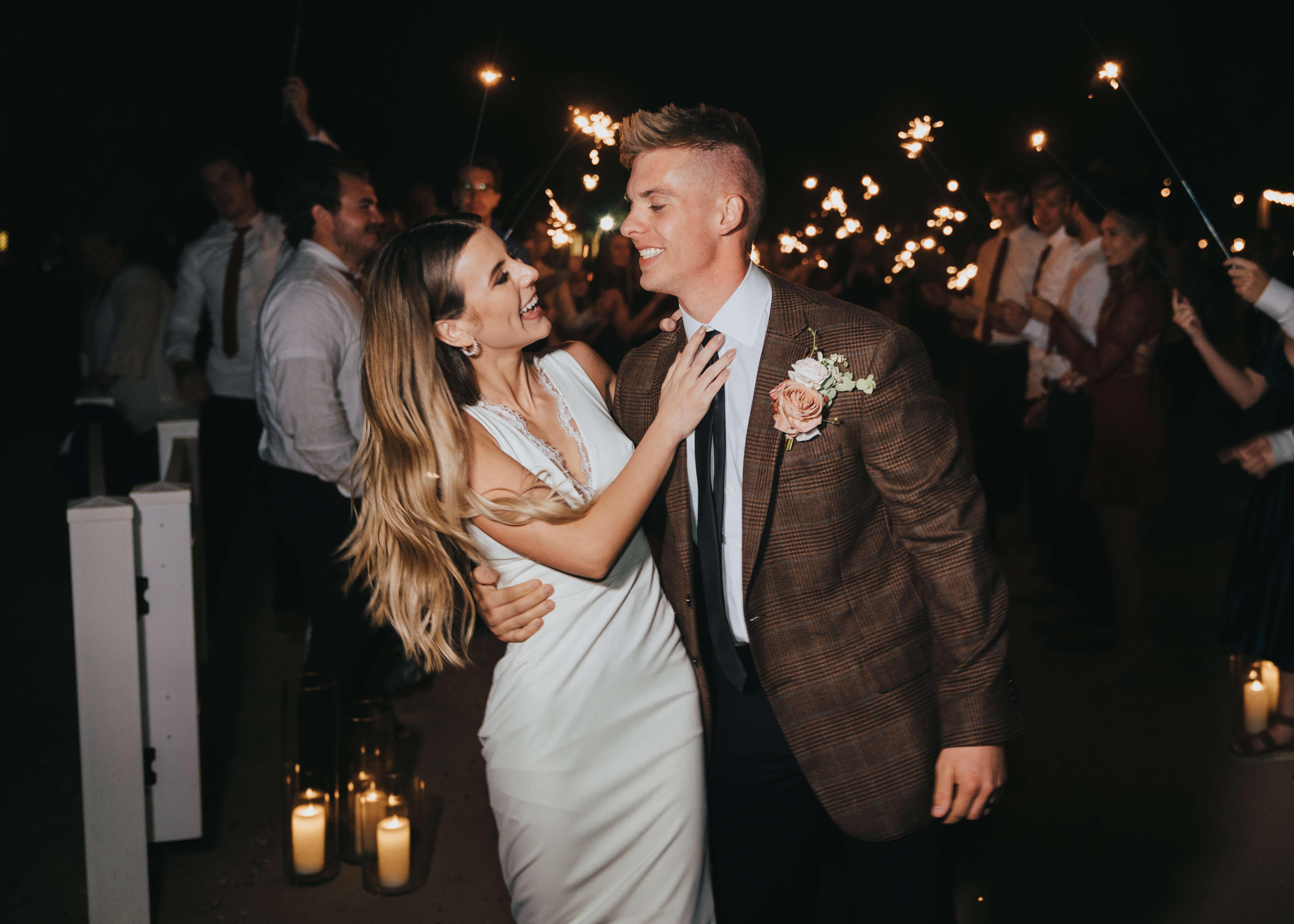 send off arizona wedding photographer with megs photography