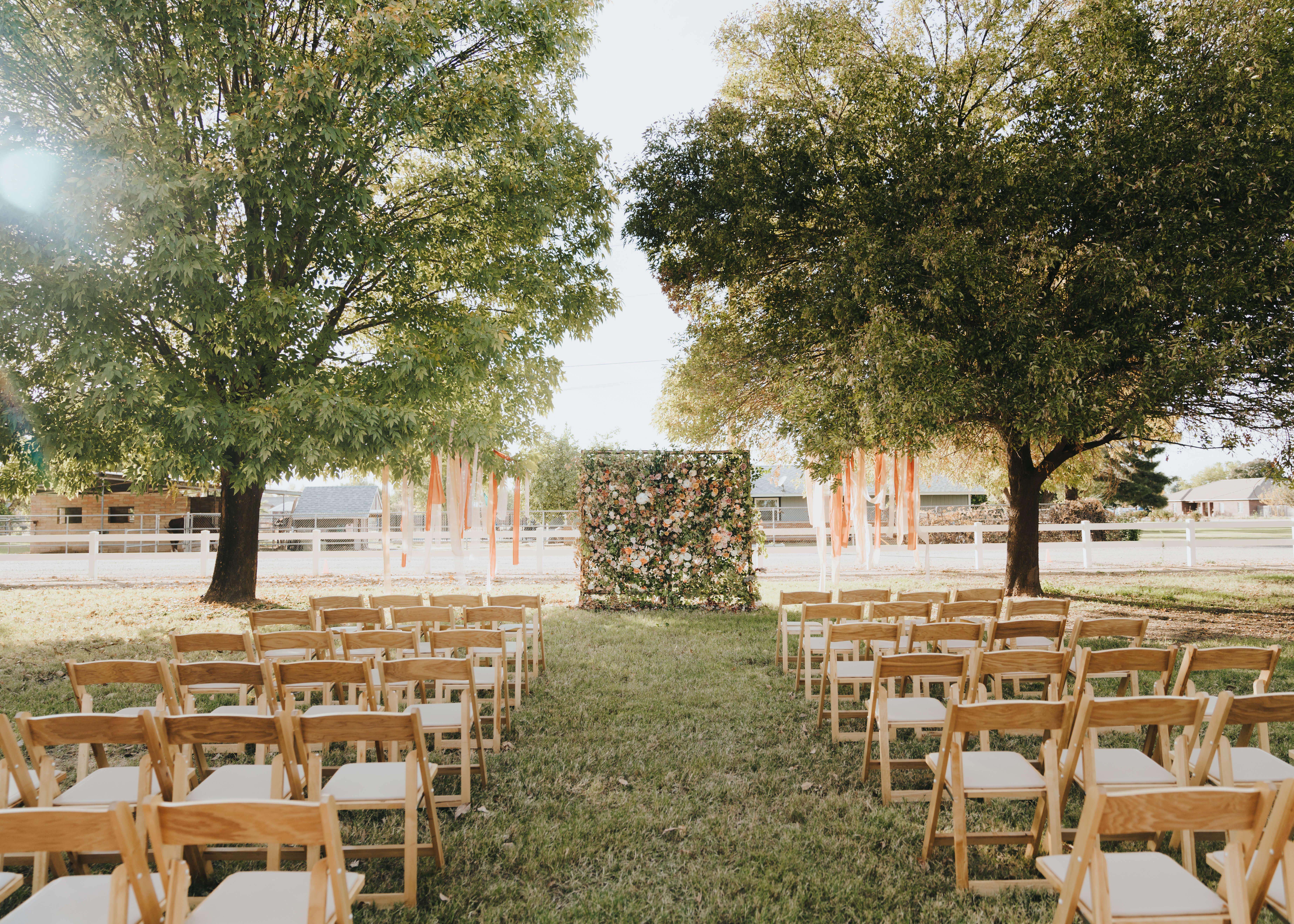 wedding floral wall backdrop arizona wedding photographer